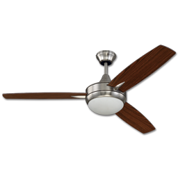 "Picture of 52"" 3 BLADE TRI MOUNT LED CEILING FAN - BRUSHED POLISHED NICKEL"