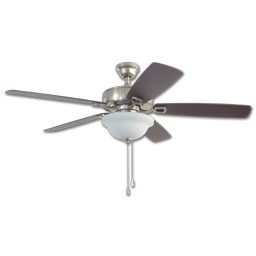 """42"""" TWIST & CLICK EASY INSTALL CEILING FAN - BRUSHED NICKEL WITH LED LIGHT KIT"""