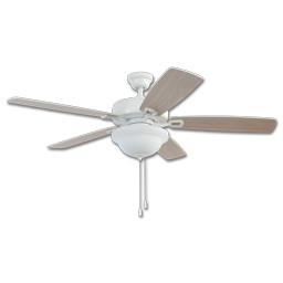 "Picture of 42"" TWIST LOCK EASY INSTALL CEILING FAN - WHITE WITH LIGHT KIT"