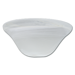 "Picture of 12"" REPLACEMENT FAUX ALABASTER LIGHT SHADE (GLASS ONLY) FOR 162075, 162097 & 162098"