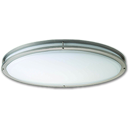 "Picture of 28"" OVAL SATELLITE FLUORESCENT CEILING FIXTURE - SATIN NICKEL"