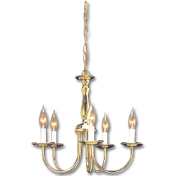 "Picture of 17"" 5-LIGHT CHANDELIER - PB"