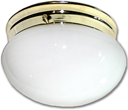 "Picture of 6"" OPAL MUSHROOM CEILING FIXTURE - POLISHED BRASS"