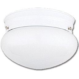 """Picture of 6"""" OPAL MUSHROOM CEILING FIXTURE - WHITE"""