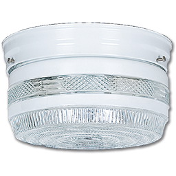 "Picture of 10"" CLEAR & WHITE DRUM LIGHT FIXTURE"