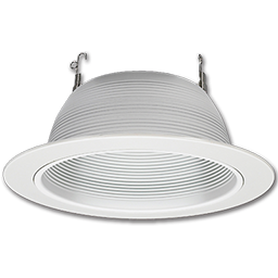 "Picture of 6"" WHITE RECESSED LIGHT TRIM WITH WHITE BAFFLE"