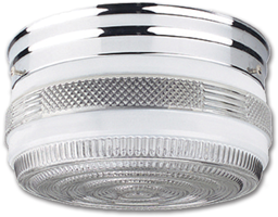 "Picture of 6"" CLEAR & CHROME DRUM FIXTURE"