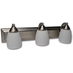 """Picture of 24"""" 3-LIGHT FROSTED GLASS SATIN NICKEL VANITY FIXTURE"""