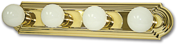 "Picture of 24"" 4-LIGHT RACEWAY BATH STRIP - POLISHED BRASS"