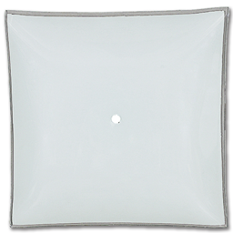 "Picture of 14"" SQUARE WHITE BENT GLASS"