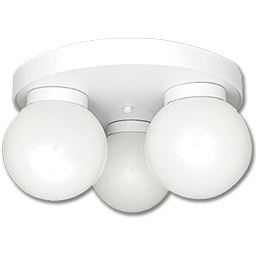 "Picture of 14"" 3-LIGHT CEILING FIXTURE - WHITE"