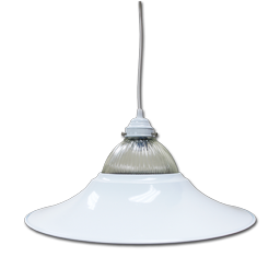 "Picture of 18"" FLANGED PENDANT FIXTURE - WHITE"