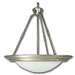 "Picture of 20"" PENDANT FIXTURE W/FAUX ALABASTER GLASS - SATIN NICKEL"
