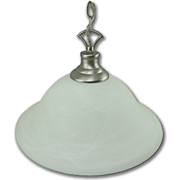 "Picture of 16"" PENDANT FIXTURE W/FAUX ALABASTER GLASS - SATIN NICKEL"