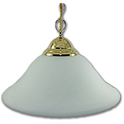 "Picture of 16"" PENDANT FIXTURE WITH FAUX ALABASTER GLASS - POLISHED BRASS"