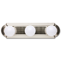 "Picture of 18"" 3-LIGHT RACEWAY BATH STRIP - SATIN NICKEL"