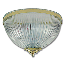 "Picture of 12"" CLEAR HALOPHANE WALL SCONCE - POLISHED BRASS TRIM"