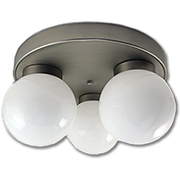 "Picture of 14"" 3-LIGHT CEILING FIXTURE - SATIN NICKEL"