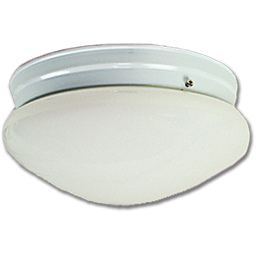 "Picture of 10"" MUSHROOM FIXTURE - WHITE WITH WHITE BASE-PAN"