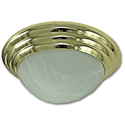 "Picture of 12"" TWIST-ON CEILING FIXTURE - POLISHED BRASS"