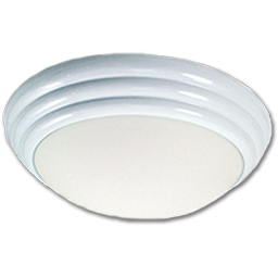 "Picture of 12"" TWIST-ON CEILING FIXTURE - WHITE"