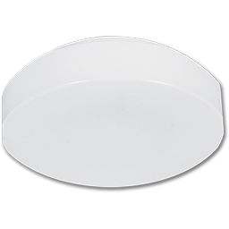 "Picture of 11"" ACRYLIC LENS FOR FLUOR DRUM FIXTURE - L-SHAPED LIP"
