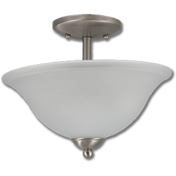 Picture of BRUSHED NICKEL CEILING PENDANT FIXTURE W/FROSTED GLASS