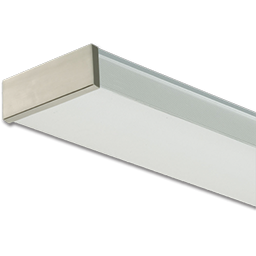 Picture of 2-BULB 32 WATT T8 FLUORESCENT FIXTURE WITH BRUSHED NICKEL TRIM