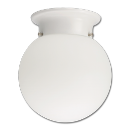 Picture of LED GLOBE FLUSH MOUNT FIXTURE - WHITE