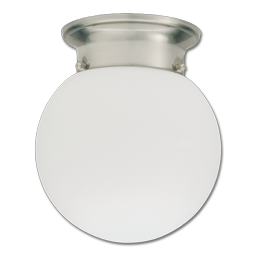 Picture of LED GLOBE FLUSH MOUNT FIXTURE - BRUSHED NICKEL