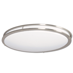 """32"""" LED OVAL TWO RING FLUSH MOUNT CEILING FIXTURE"""