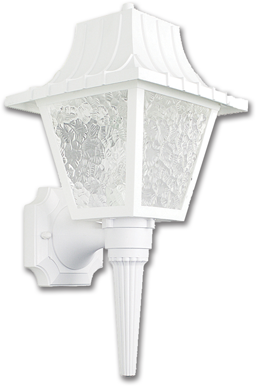 "Picture of 8"" POLY OUTDOOR FIXTURE - WHITE"