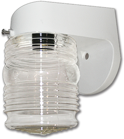 """Picture of 6"""" POLY OUTDOOR WALL FIXTURE - WHITE"""