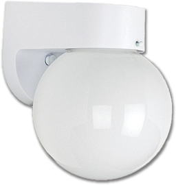 "Picture of 6"" POLY OUTDOOR WALL FIXTURE - WHITE"