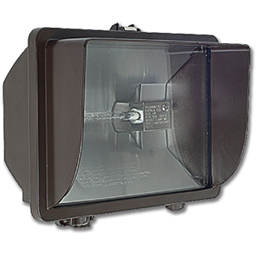 Picture of 500W QUARTZ FLOOD FIXTURE - BRONZE WITH BULB