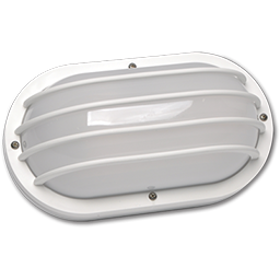 Picture of 13W PL OUTDOOR OVAL WALL FLUORESCENT FIXTURE - WHITE