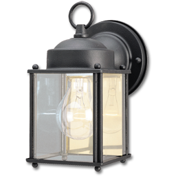 Picture of 1-LIGHT WALL LANTERN- BLACK