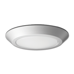 "Picture of 10"" LED FLUSH MOUNT FIXTURE - BRUSHED NICKEL (WET LOCATION)"
