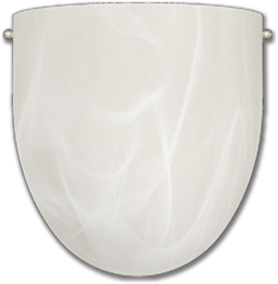 "Picture of 8"" WALL SCONCE SATIN NICKEL WITH ALABASTER GLASS - 1X60W"