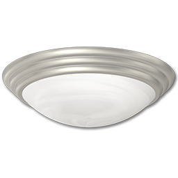 "Picture of 14"" FLUORESCENT CEILING FIXTURE - BRUSHED NICKEL WITH WHITE TWIST-ON DIFFUSER"