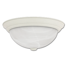 "Picture of 13"" FLUORESCENT CEILING FIXTURE - WHITE WITH ALABASTER GLASS"