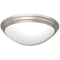 "Picture of 15"" FLUORESCENT CEILING FIXTURE - BRUSHED NICKEL WITH ALABASTER TWIST-ON GLASS"