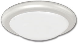"Picture of 14"" FLUORESCENT CEILING FIXTURE - WHITE WITH WHITE TWIST-ON DIFFUSER"