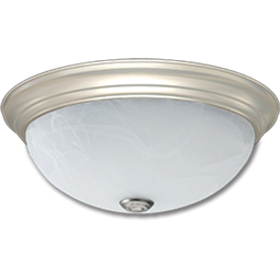 "Picture of 15"" FLUORESCENT CEILING FIXTURE - POLISHED BRASS WITH ALABASTER GLASS"