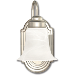 Picture of 13W FLUORESCENT WALL SCONCE - SATIN NICKEL W/ALABASTER GLASS