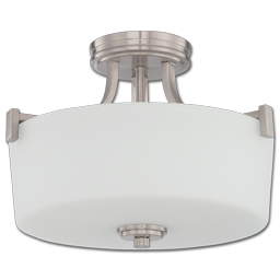 Picture of 3-LIGHT SEMI-FLUSH CEILING FIXTURE