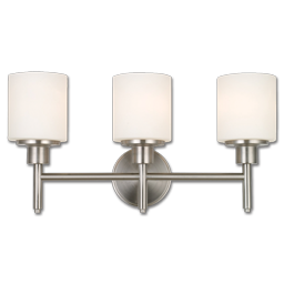Picture of 3 LIGHT VANITY FIXTURE - SATIN NICKEL WITH FROSTED GLASS