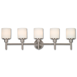 Picture of 5 LIGHT VANITY FIXTURE - SATIN NICKEL WITH FROSTED GLASS