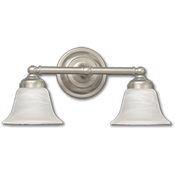 Picture of 2-LIGHT VANITY FIXTURE - SATIN NICKEL WITH ALABASTER GLASS