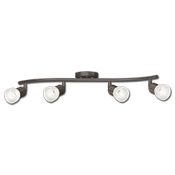 Picture of 4-LIGHT WAVE TRACK LIGHT - OIL RUBBED BRONZE WITH FROSTED GLASS
